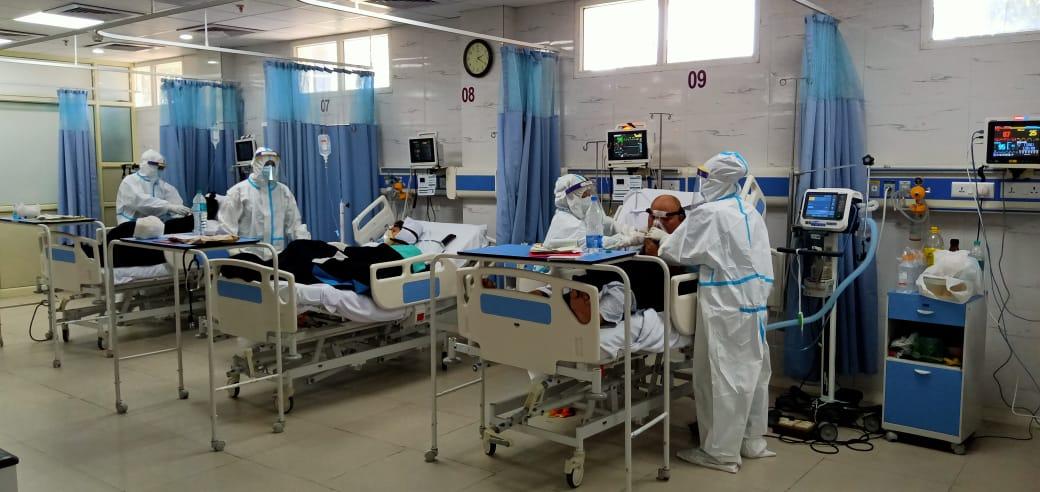 Covid treatment at Herbertpur Christian Hospital