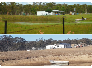 Inverell farm - before and during the drought